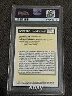 1990 Marvel Universe LIMITED SERIES 1 WOLVERINE PSA 10 Gem Mint Rookie Low Pop B