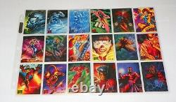1995 Marvel Masterpieces Trading Cards COMPLETE BASE SET 1-151 NM/M