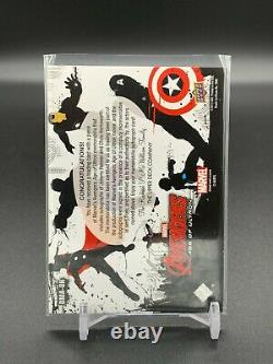 2015 UD Marvel Avengers Age of Ultron Chris Hemsworth Jeremy Renner Relic Auto