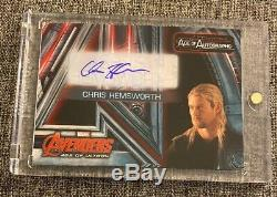 2015 Upper Deck Avengers Age Of Ultron Chris Hemsworth Auto Autograph Thor
