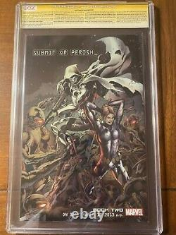 AGE OF ULTRON #1 5/13 CGC 9.8 SS STAN LEE Embossed metallic foil cover