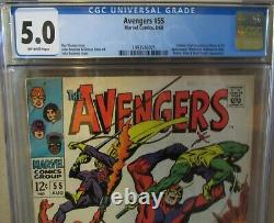 AVENGERS #55 CGC 5.0 1st Appearance of ULTRON! BLACK PANTHER, BLACK KNIGHT App