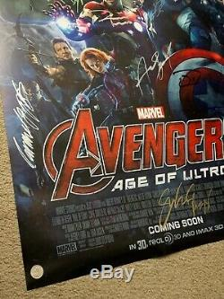 AVENGERS AGE OF ULTRON Movie Poster CAST SIGNED Premiere 27x40 MARVEL