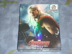 AVENGERS AGE OF ULTRON NOVAMEDIA 3D+2D BLU RAY STEELBOOK limited 356/600 (THOR)