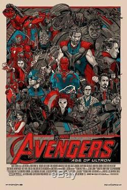 AVENGERS AGE OF ULTRON by Tyler Stout S/N Mondo poster Infinity War Endgame