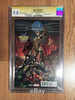Age Of Ultron #1 Midtown Comics Variant Cgc 9.8 Ss Stan Lee & J. Scott Campbell