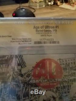 Age Of Ultron #1 Signed By Stan Lee AFA 9.6