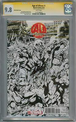 Age Of Ultron #1 Sketch Variant Cgc 9.8 Signature Series Signed Stan Lee Movie