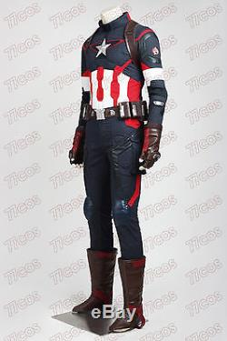 Avengers 2 Age of Ultron Captain America Steven Rogers Cosplay Costume Outfit