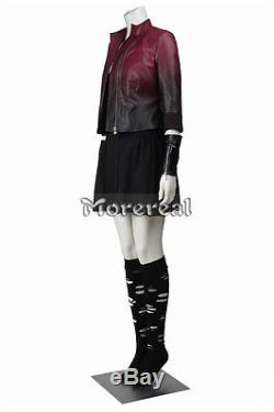 Avengers 2 Age of Ultron Costume Cosplay Scarlet Witch Wanda Cosplay Dress Adult