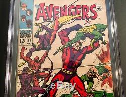 Avengers #55 Marvel 1968 Silver Age Comic Book 1ST FULL APP. Of ULTRON CGC 8.0