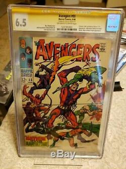 Avengers #55 Stan Lee Auto Cover CGC SS 6.5 Signed First Ultron Silver Age Key