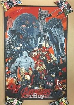 Avengers Age Of Ultron Screen Print Poster #2/50 Vance Kelly Mondo Artist