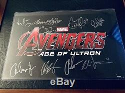 Avengers Age of Ultron Autographed Print! COA included! Look