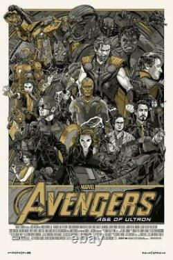 Avengers Age of Ultron By Tyler Stout 24x36 Variant Poster Print XX/350