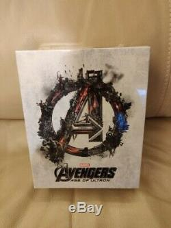 Avengers Age of Ultron NovaMedia Exclusive One-Click Steelbook Set Blu-ray 2D/3D