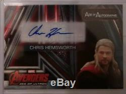 CHRIS HEMSWORTH as THOR Auto Card Upper Deck AVENGERS AGE OF ULTRON #AA