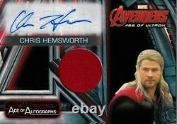 Chris Hemsworth certified signed autograph THOR Avengers Age Ultron 2015 UD card
