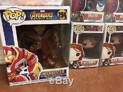 Funko Pop! Avengers Age Of Ultron Set Thor Hulkbuster Vision Infinity Wars Cap