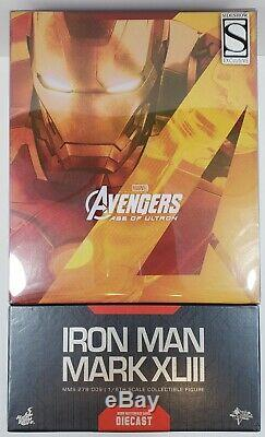 HOT TOYS AVENGERS AGE OF ULTRON Iron Man Mark XLIII Brand New MMS278