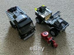 HUGE Marvel Lego Age of Ultron Lot Avengers Tower Quinjet Vehicles and Minifigs