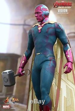 Hot Toys 1/6 Avengers Age Of Ultron Mms296 Vision Masterpiece Figure In Stock
