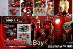 Hot Toys Avengers Age Of Ultron Iron Man Mk XLV 45 1/6 Diecast MMS300 withshipper