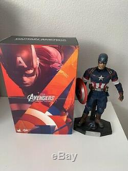 Hot Toys Avengers Age of Ultron- Captain America Action Figure USED Read Details