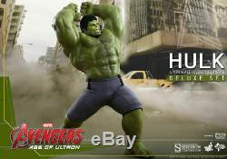 Hot Toys Avengers Age of Ultron HULK Deluxe 1/6 Scale Action Figure Set MMS287