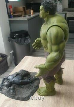 Hot Toys Incredible Hulk 16 Scale Avengers Figure With Chituari Base/stand