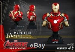 Hot Toys Iron Man Mark XLIII 1/4 Scale Bust Avengers Age of Ultron Sealed NEW