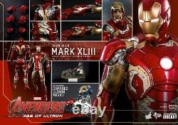 Hot Toys MMS278 Iron Man Mark 43 Diecast 16 Scale Used AGE OF ULTRON 2015