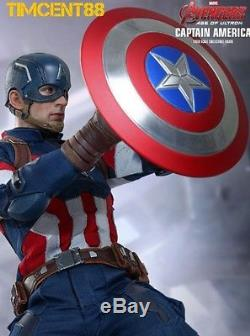 Hot Toys MMS281 Avengers Age of Ultron Captain America AOU Chris Evans Open New