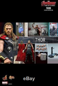 Hot Toys MMS 306 Avengers Age of Ultron AOU Thor Chris Hemsworth Figure USED