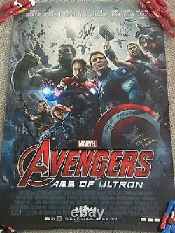 Marvel Avengers Age of Ultron Signed Poster 6 Autos! Stan Lee Chris Evans etc