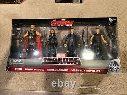 Marvel Legends Avengers Age of Ultron 4-Pack Exclusive Banner, Thor, B Widow +