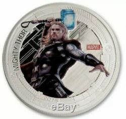 Marvels Avengers Age Of Ultron Niue 2015 Silver Proof 5 Coin Set Bu New