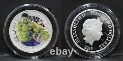 Niue 2015 Marvel Avengers Age of Ultron 5 Silver Coin SET