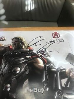 SDCC Avengers Age Of Ultron Poster Signed By 12 Marvel Comics Stan Lee