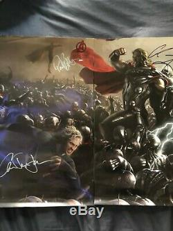 Sdcc 2014 Marvel Avengers Age Of Ultron Signed 8-poster Complete Rare