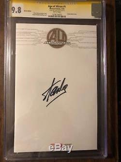 Stan Lee Signed Cgc SS 9.8 AGE OF ULTRON #1 Blank sketch autographed Avengers